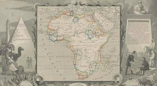 Caroline Batchelor Map Collection. Afrique / gravé par Laguillermie ; illustré par Raimond Bonheur ; géographie et statistique de V. Levasseur. 1850.