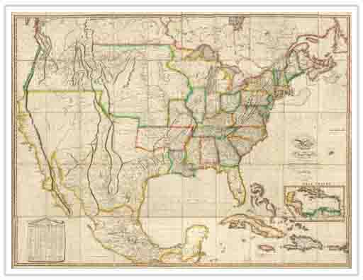 Map of the United States, 1823. Gift of the David Rumsey Map Collection