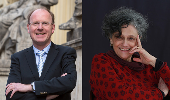 Upcoming events: Klaus Ceynowa, Director General of the Bavarian State Library, and writer Bahiyyih Nakhjavani.