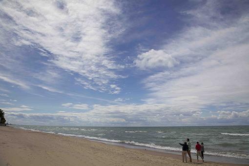 Lake Michigan beach, photo by Jacqueline Widmar Stewart